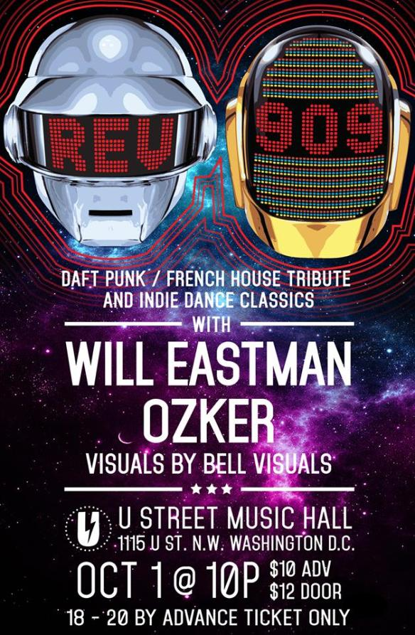 Rev909: Daft Punk/French House Tribute & Indie Dance Classics with Will Eastman and Ozker at U Street Music Hall