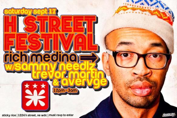 H Street Fest at Sticky Rice with Rich Medina