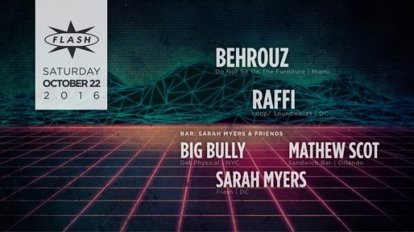 Behrouz with Raffi at Flash, with Sarah Myers, Mathew Scot and Big Bully in the Flash Bar