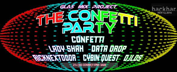 The Confetti Party by GLAS Mix Project at Backbar