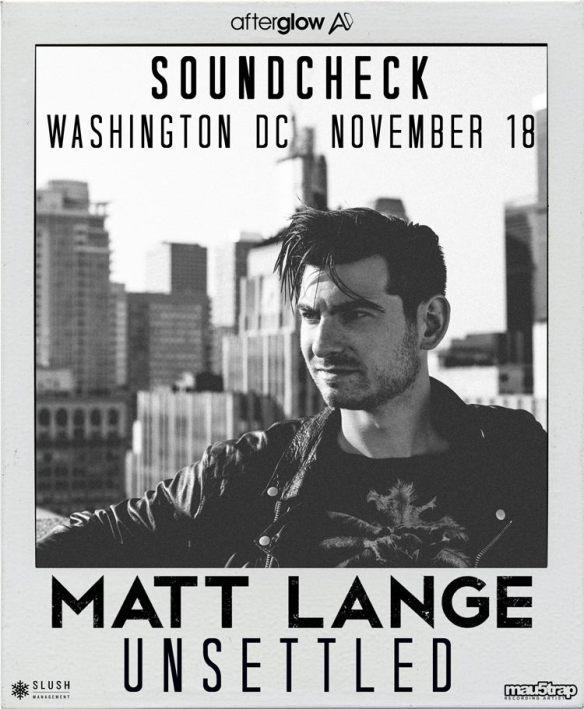 Matt Lange at Soundcheck