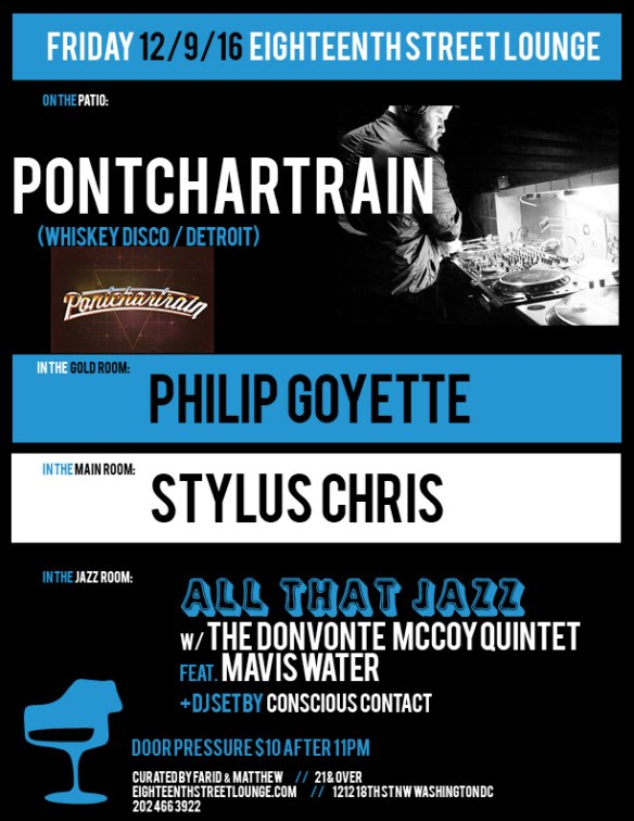 ESL Friday with Pontchartrain, Philip Goyette, Stylus Chris and Conscious Contact at Eighteenth Street Lounge