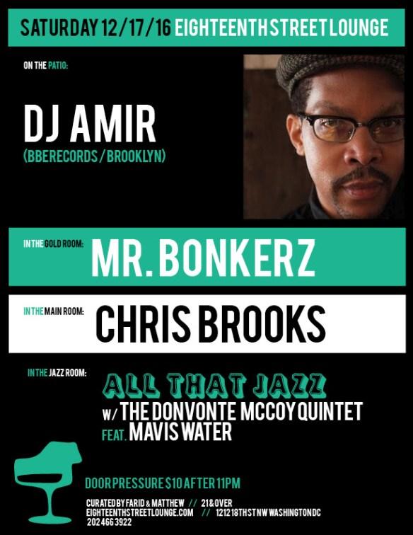 ESL Saturday with DJ Amir, Mr Bonkerz & Chris Brooks at Eighteenth Street Lounge