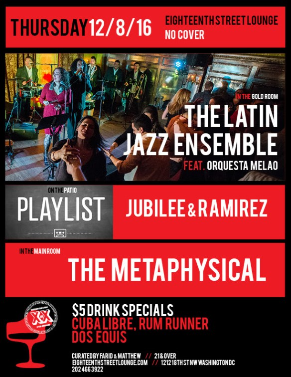 More details: https://www.facebook.com/events/1809052356040535/ Playlist with Jubilee & Ramirez at Eighteenth Street Lounge