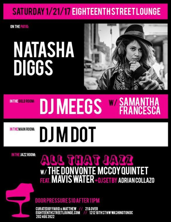 ESL Saturday with Natasha Diggs, DJ Meegs, Samantha Francesca, DJ Mdot and Adrian Collazo at Eighteenth Street Lounge