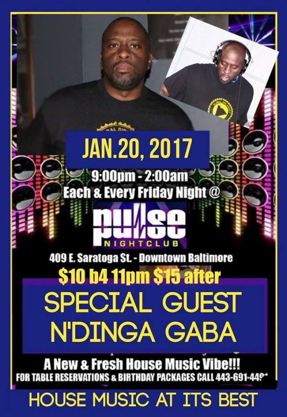Pulse Fridays Presents N'Dinga Gaba and DJ Biskit at Pulse Nightclub, Baltimore