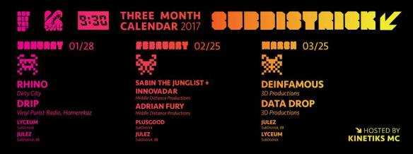 SubDistrick with Sabin The Junglist, Innovadar, Adrian Fury, Plusgood & Jules at Backbar