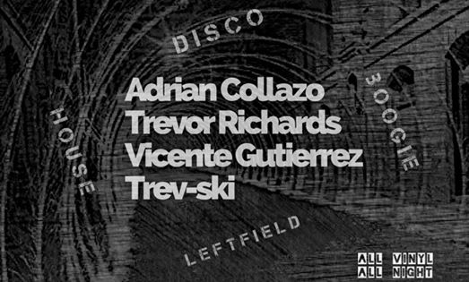 Vinyl Villainz with Adrian Collazo, Trevor Richards, Vicente Gutierrez and Trev-ski at Jimmy Valentine's Lonely Hearts Club