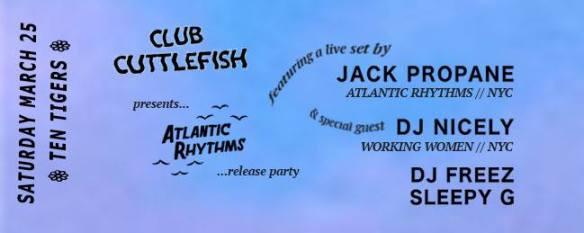 Club Cuttlefish with Jack Propane, DJ Nicely, DJ Freez & Sleepy G at Ten Tigers Parlour