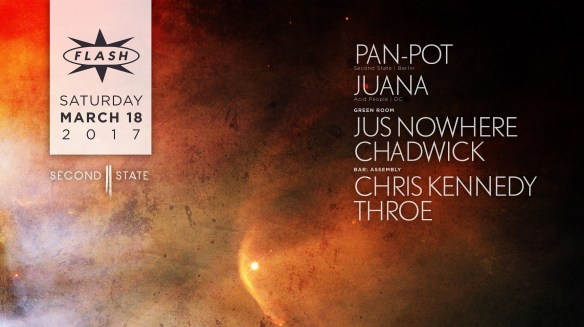 Pan-Pot, Juana at Flash, with Jus Nowhere & Chadwick in the Green Room and Assembly with Chris Kennedy & Throe in the Flash Bar