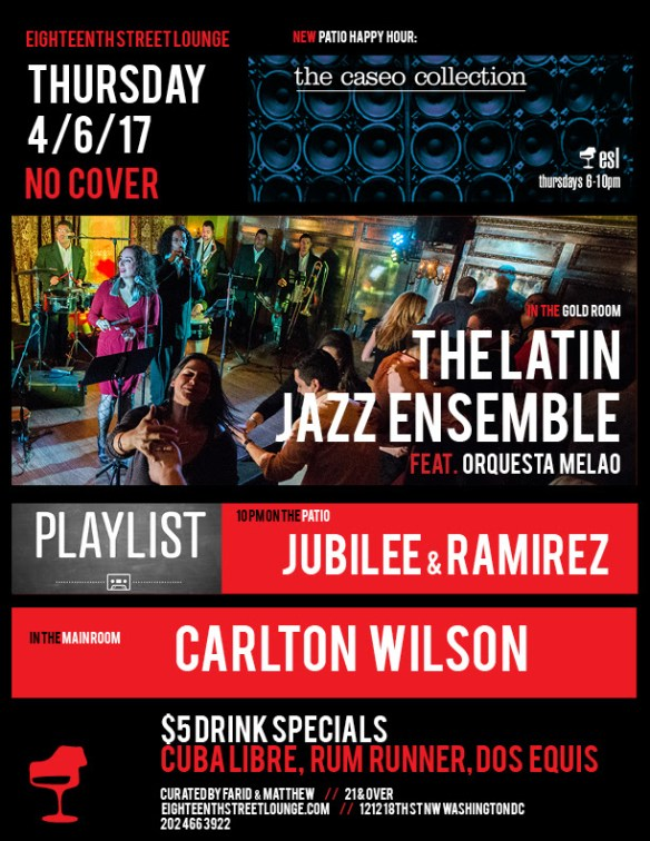 ESL Thursday with The Caseo Collection, Carlton Wilson & Playlist with Jubilee & Ramirez at Flash