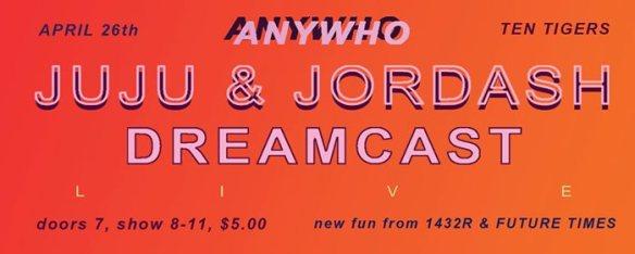 anywho juju jordash dreamcast
