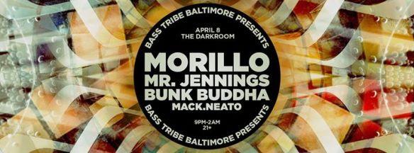 Bass Tribe Bmore with MORiLLO, Mr. Jennings, Bunk Buddha & Mack.neato at The Darkroom, Baltimore