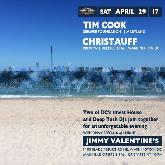 Deeptech DC with Tim Cook & Christauff at Jimmy Valentine's Lonely Hearts Club