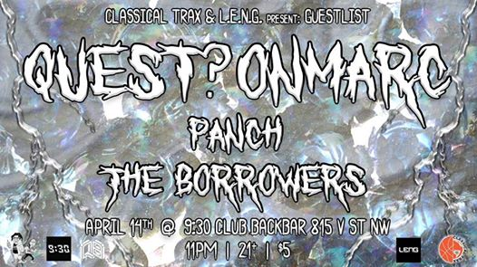 Classical Trax x Guestlist: quest?onmarc, Panch, The Borrowers at Backbar