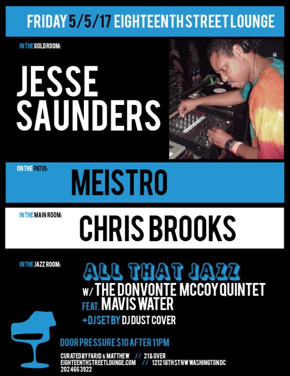 ESL Friday with Jesse Saunders, Meistro, Chris Brooks & DJ Dust Cover at Eighteenth Street Lounge