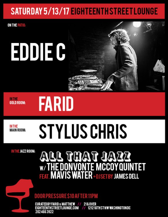 ESL Saturday with Eddie C, Farid, Stylus Chris and James Dell at Eighteenth Street Lounge