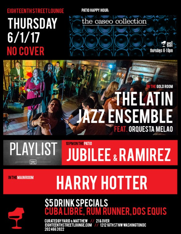 Playlist with Jubilee & Ramirez at Eighteenth Street Lounge