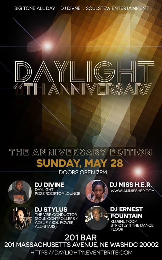 Daylight Anniversary 11 with DJ Divine, DJ Miss H.E.R., DY Stylus & DJ Ernest Fountain at 201 Bar