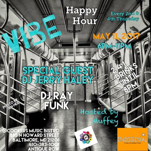 Vibe Happy Hour with DJ Ray Funk and DJ Jerry Haley at Cookers Music Bistro, Baltimore