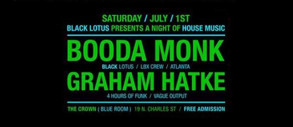 Black Lotus Party with Booda Monk & Graham Hatke at The Crown, Baltimore