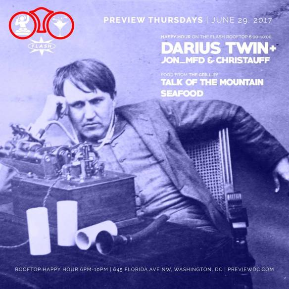 Preview Rooftop Happy Hour with Darius Twin at Flash
