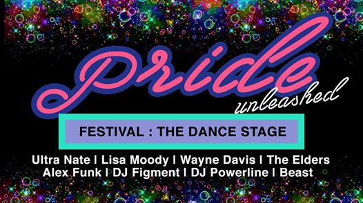 PRIDE 2017 Festival - The Dance Stage with Ultra Naté, Lisa Moody, Wayne Davis, The Elders, Alex Funk, DJ Figment, DJ Powerline and Beast at Druid Hill Park, Baltimore
