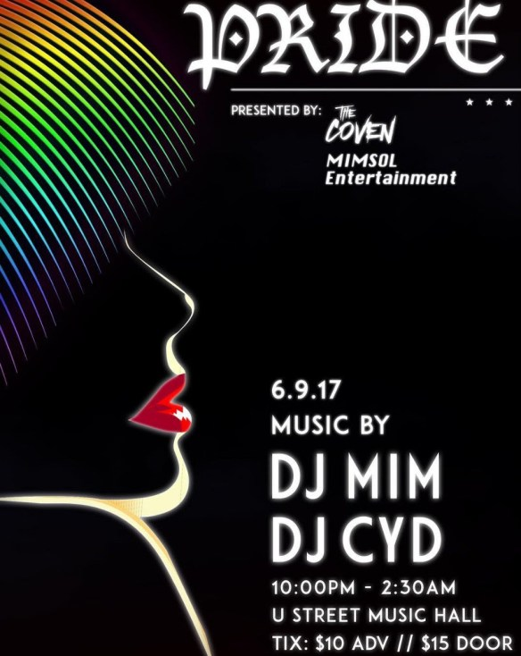 Pride 2017: The Coven ft. DJ MIM at U Street Music Hall