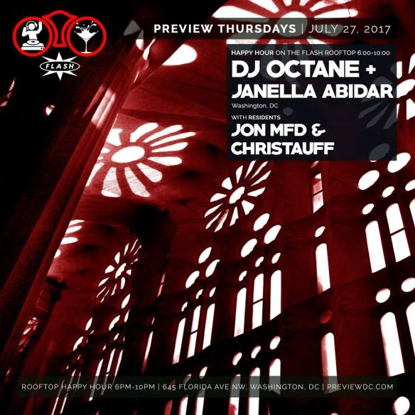 Preview Rooftop Happy Hour ft. DJ Octane & Janella Abidar at Flash