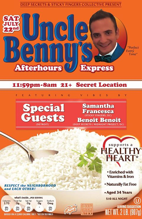 Uncle Benny's 34th Afterhour Express with Special Guests (Detroit), Samantha Francesca & Benoit at Secret Location