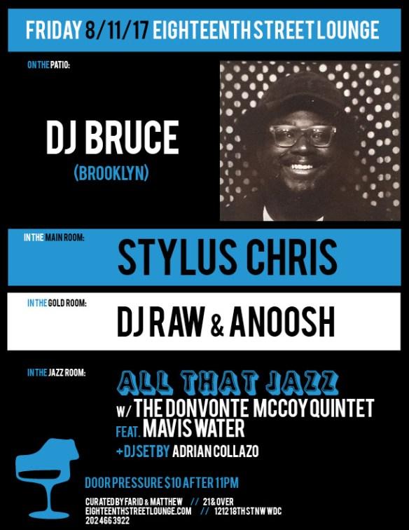 ESL Friday with DJ Bruce, Stylus Chris, DJ Raw & Anoosh and Adrian Collazo at Eighteenth Street Lounge
