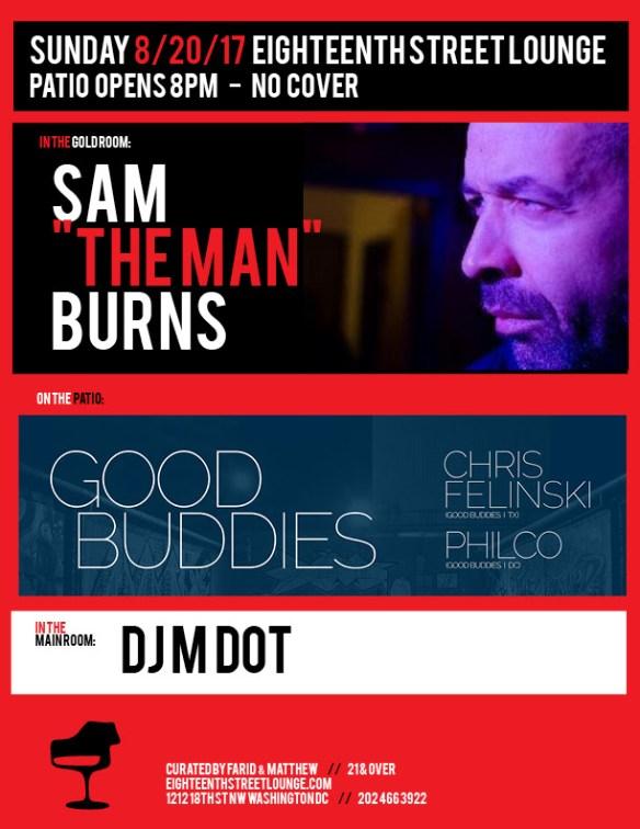 ESL Sunday with Sam Burns, DJ M Dot & Good Buddies featuring Chris Felinski and Philco at Eighteenth Street Lounge