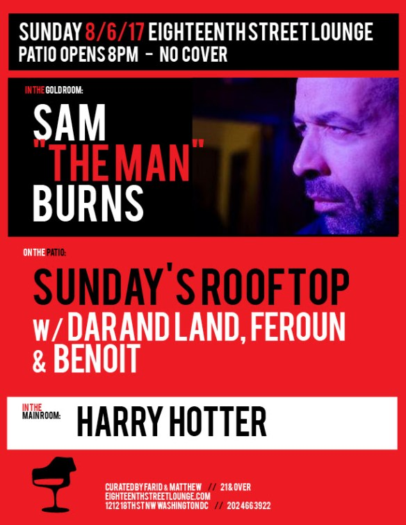 Sunday's Rooftop with Darand Land, Feroun & Benoit at Eighteenth Street Lounge