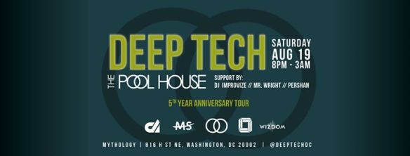 Deep Tech XIII: Pool House 5th Year Anniversary Tour with support from DJ Improvize, Mr Wright & Pershan at Mythology Restaurant & Lounge