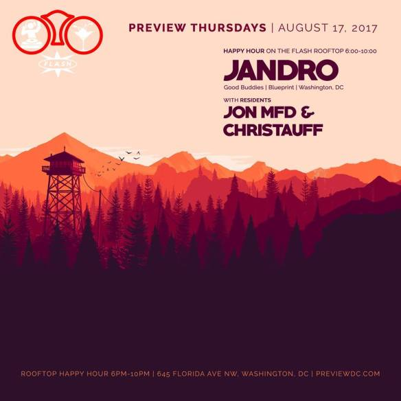 Preview Rooftop Happy Hour ft. Jandro at Flash