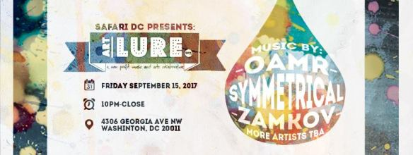 Safari DC Presents: An ArtLure Pop-Up Show with Oamr, Symmetrical & Zamkov at Safari DC Restaurant and Lounge