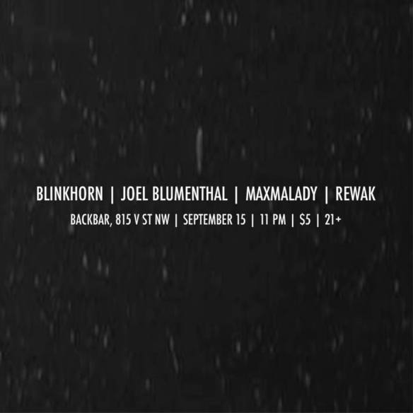 Blinkhorn, Blumenthal, MaxMalady, Rewak at Backbar