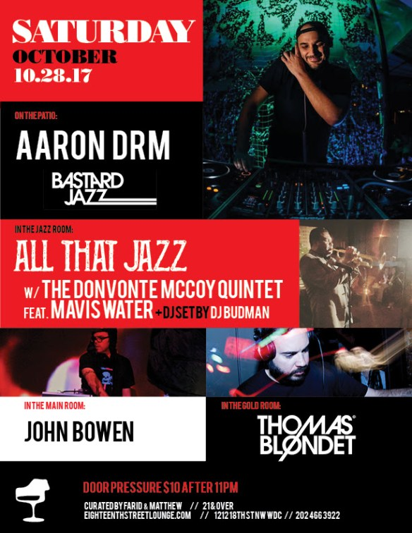 ESL Saturday with Aaron DRM, Bastard Jazz, DJ Budman, John Bowen & Thomas Blondet at Eighteenth Street Lounge
