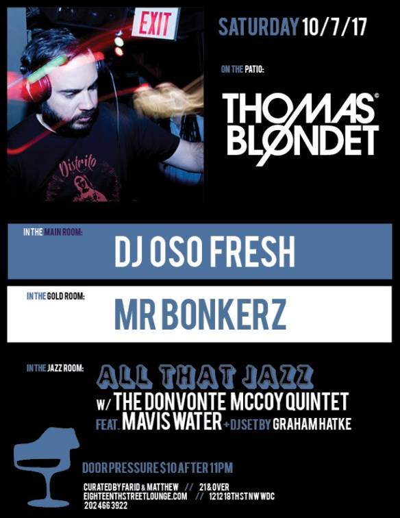 ESL Saturday with Thomas Blondet, DJ Oso Fresh, Mr Bonkerz & Graham Hatke at Eighteenth Street Lounge