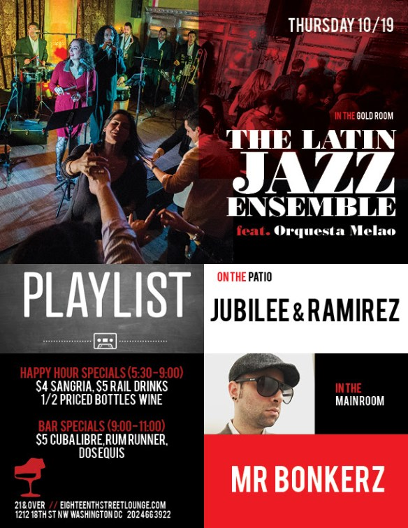 ESL Thursday featuring Playlist with Jubilee & Ramirez & Mr Bonkerz at Eighteenth Street Lounge