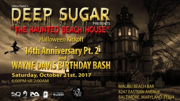 Deep Sugar 14th Anniversary Part 2 with Ultra Naté, Lisa Moody, Teddy Douglas, Dave Harness, Donna Edwards, The Elders, Wayne Davis, Mookie Wizzo & Shawn Q at Miami Beach Bar, Baltimore