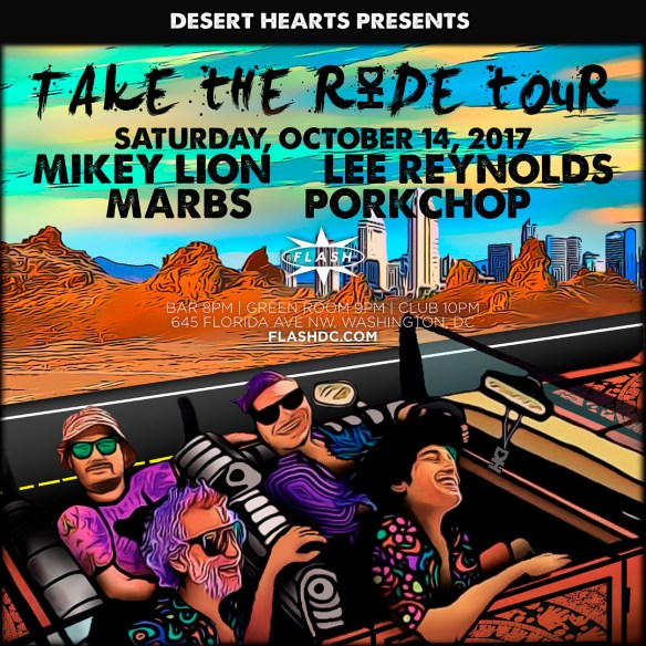 Desert Hearts presents: City Hearts Mikey Lion, Lee Reynolds, Marbs & Porkchop at Flash, with Sarah Myers & Philip Goyette in the Green Room & Team Zapata in the Flash Bar