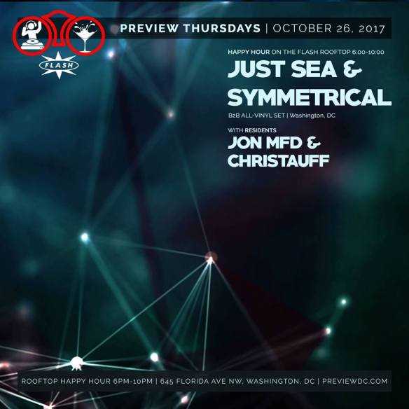 Preview Happy Hour with Just Sea & DJ Symmetrical at Flash