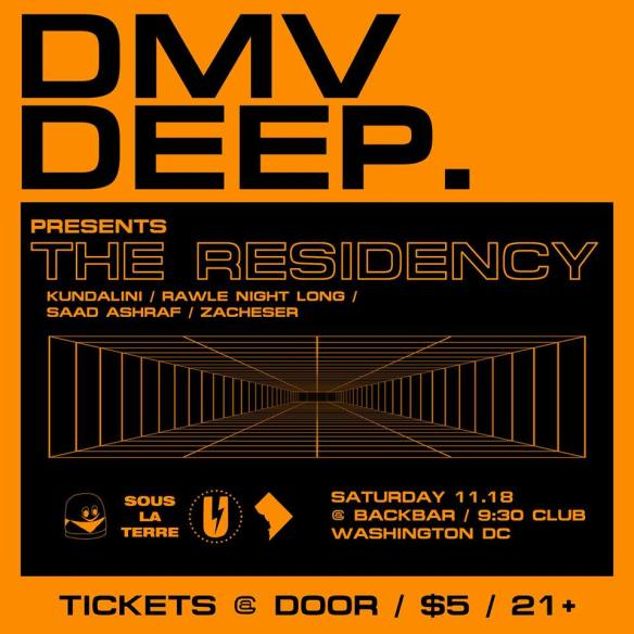 DMV Deep presents The Residency at Backbar