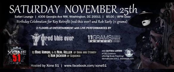Red This Ever, 11 Grams, DJ Kangal, Ron Jackson and The Angel at Safari Restaurant & Lounge