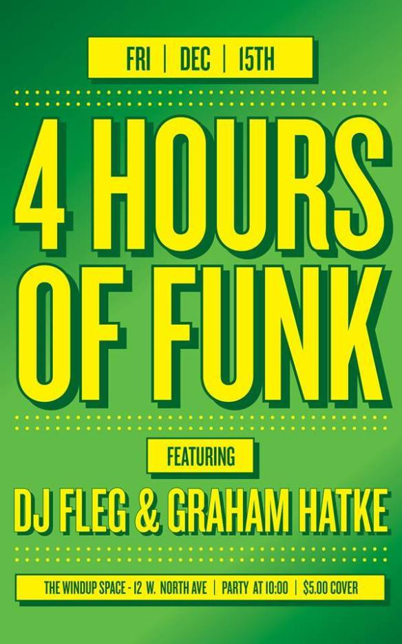 4 Hours of Funk with Graham Hatke & Fleg at The Windup Space