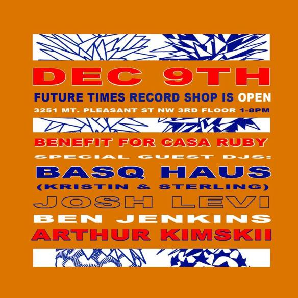 Future Times Record Shop Benefit for Casa Ruby