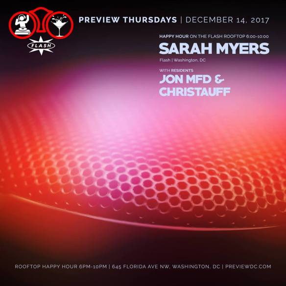Preview Happy Hour with Sarah Myers at Flash