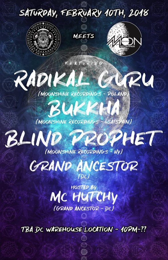 Grand Ancestor meets Moonshine Records with Radikal Guru, Bukkha, Blind Prophet & Grand Ancestor