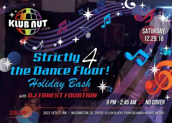 Strictly 4 The Dance Floor Ernest Fountain at Zeba Bar